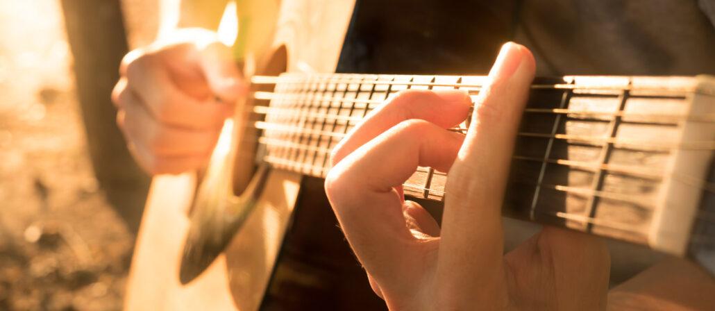 Barrégrepp på gitarr